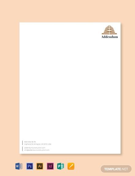construction company letterhead template1