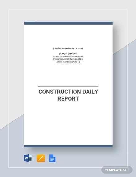 construction daily report template