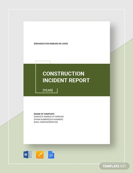 construction incident report 2