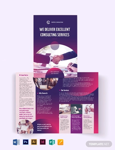 consulting services bi fold brochure template1