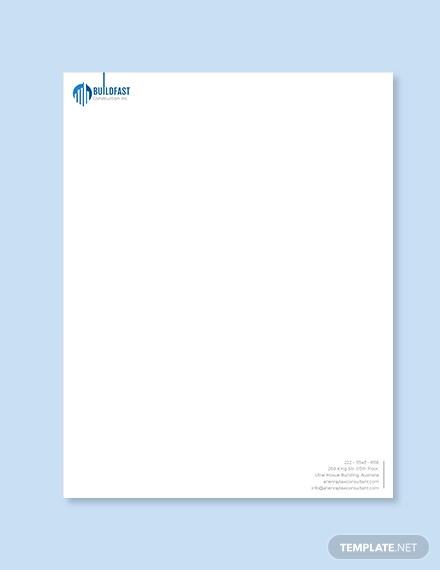 contractor letterhead template