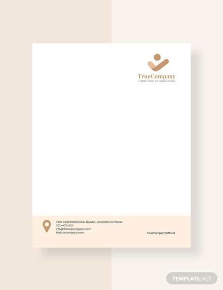 corporate company letterhead sample