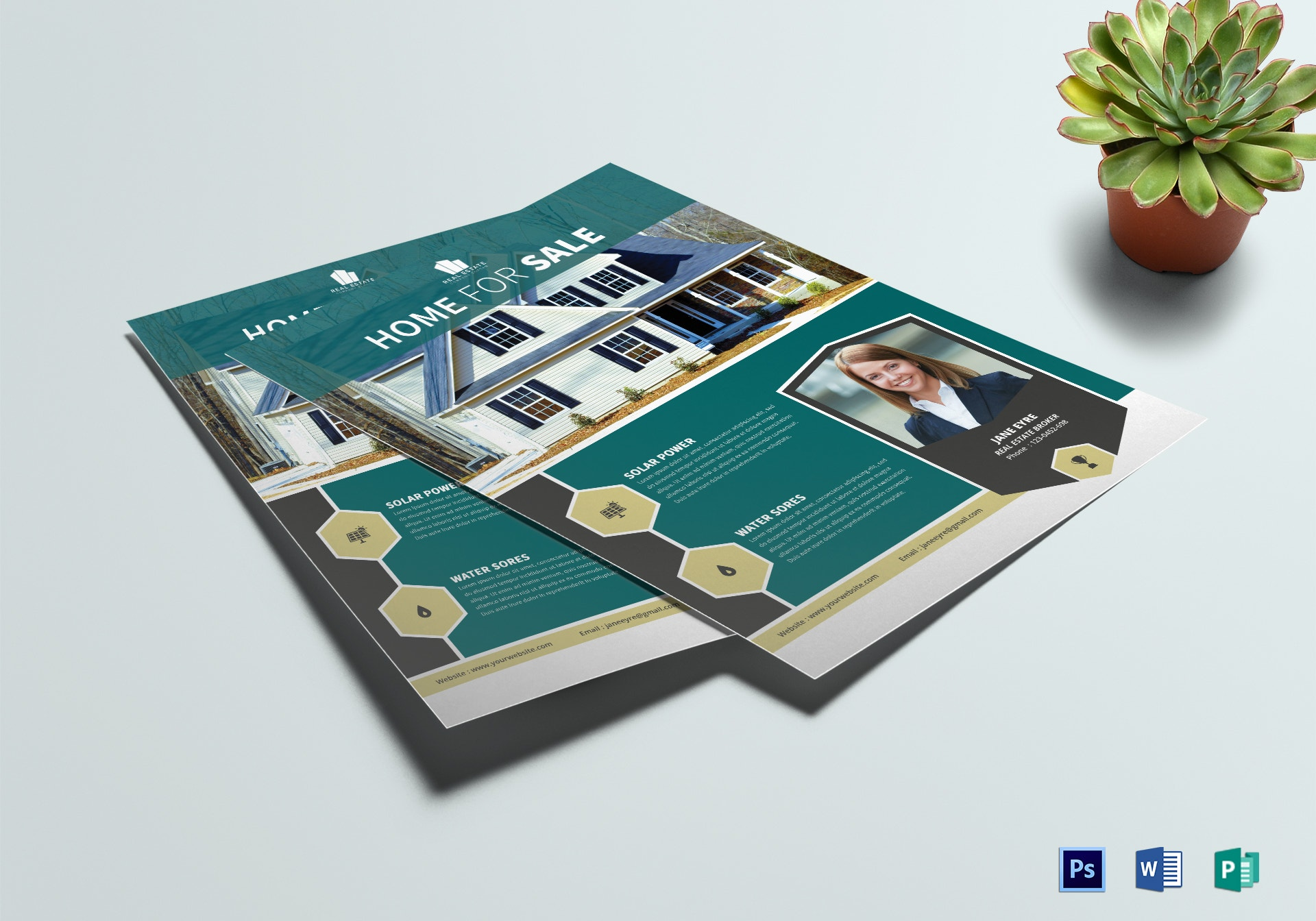 corporate real estate flyer design