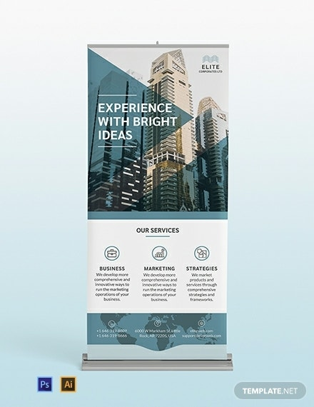 corporate roll up banner template1