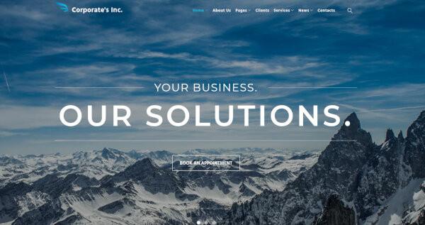 corporates inc responsive layour wordpress theme