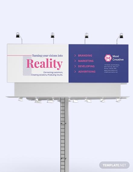creative agency billboard template 1