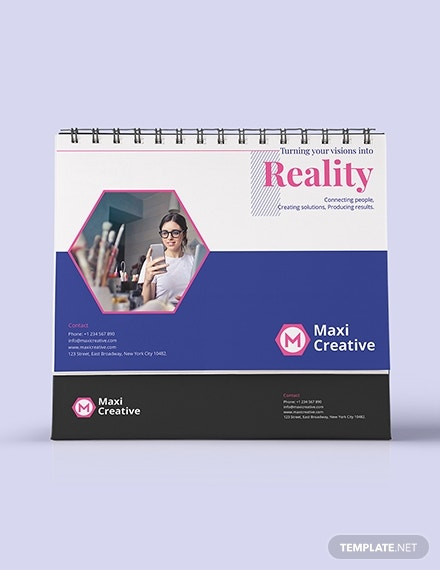 creative agency desk calendar design