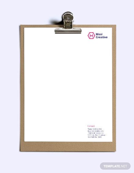 creative agency letterhead template