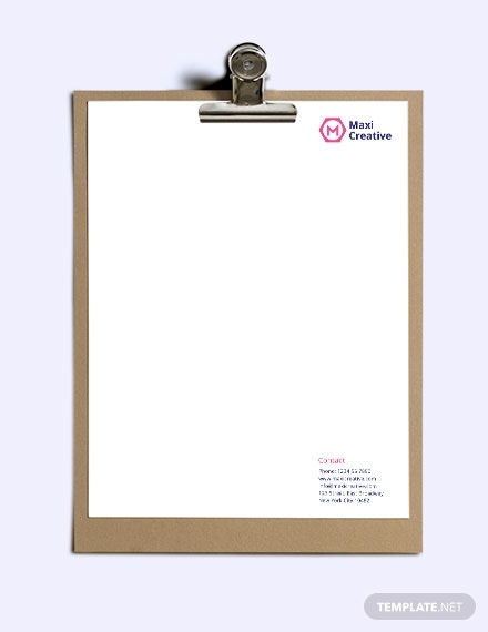 creative agency letterhead template2