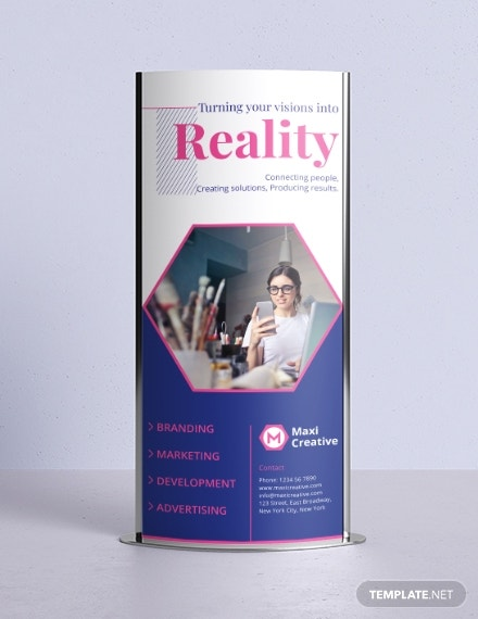 creative agency roll up banner design