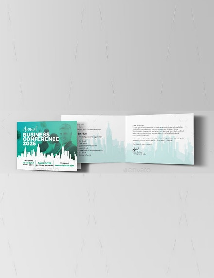 creative annual conference invitation template
