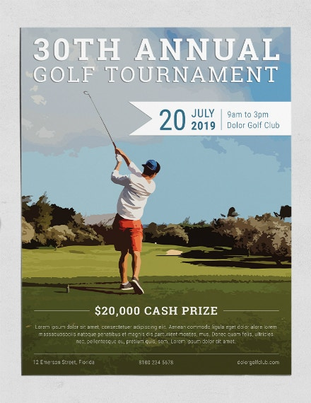 Creative Annual Golf Tournament Flyer