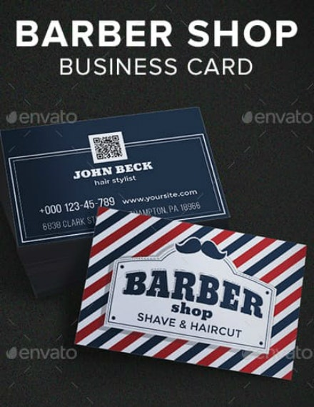 creative barber business card example
