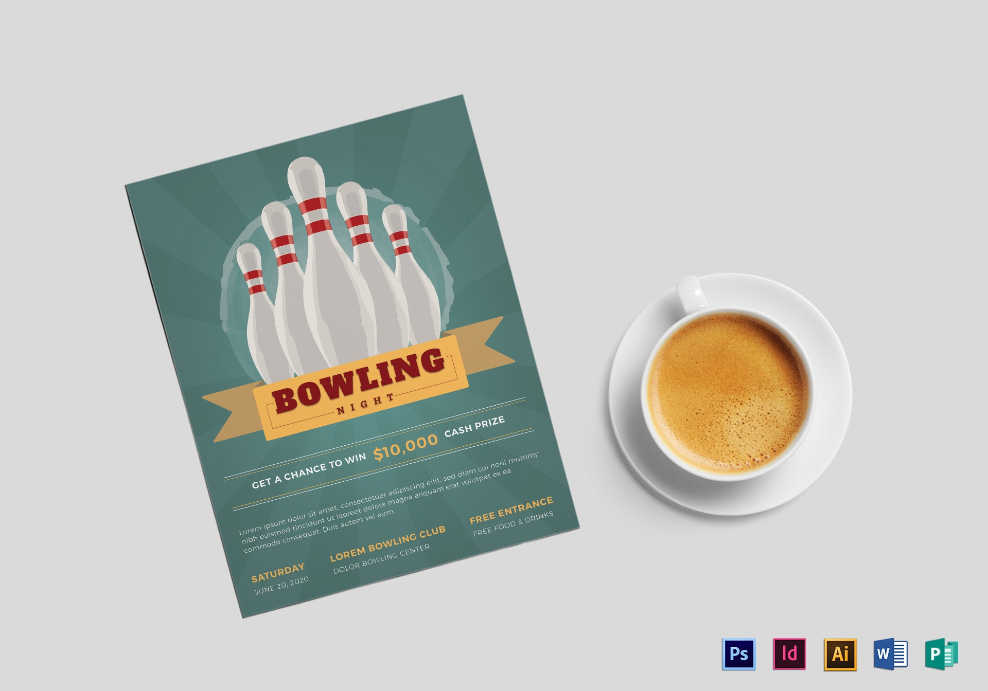 creative bowling night flyer example