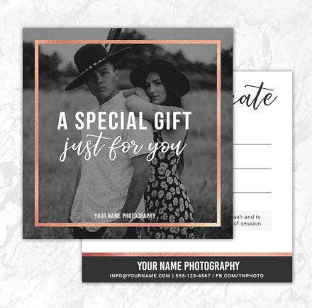 creative photography gift certificate