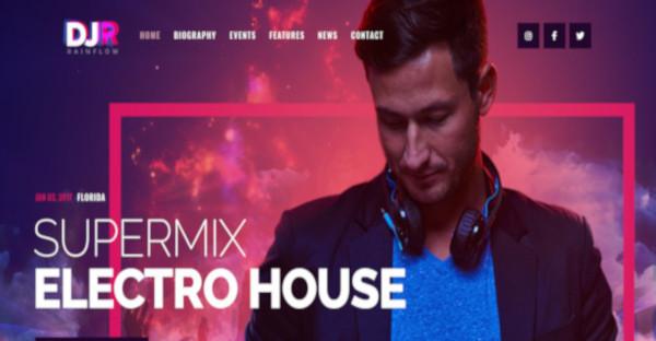 dj rainflow – latest nightclub wordpress theme1