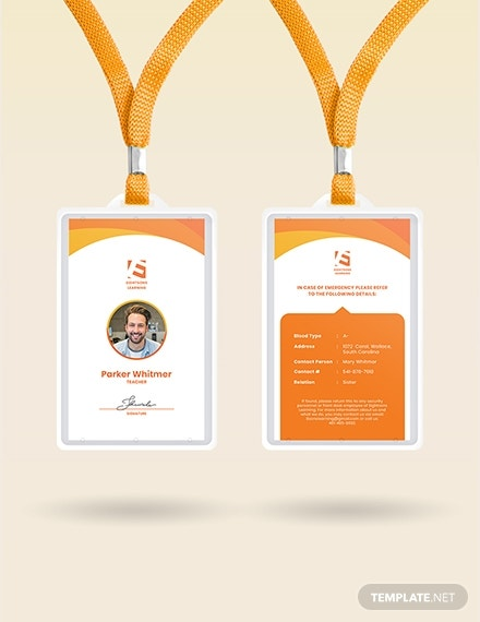 daycare staff id card template 21
