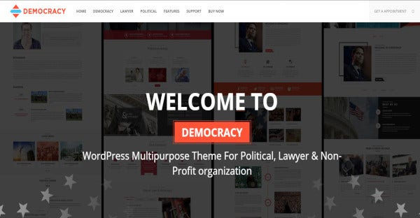 democracy political – multipurpose lawyer attorney wordpress theme