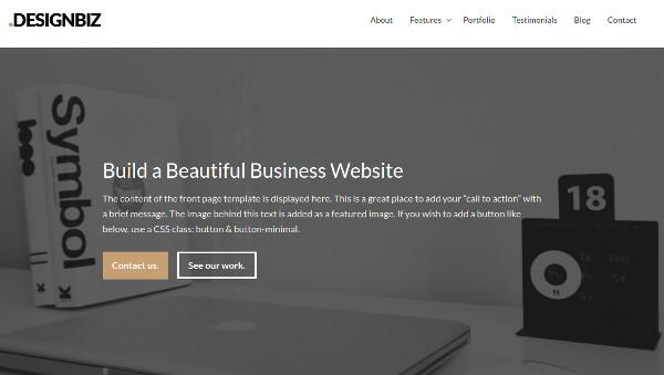 designbiz mobile optimized wordpress theme