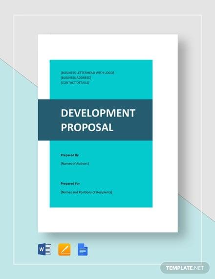 development proposal template
