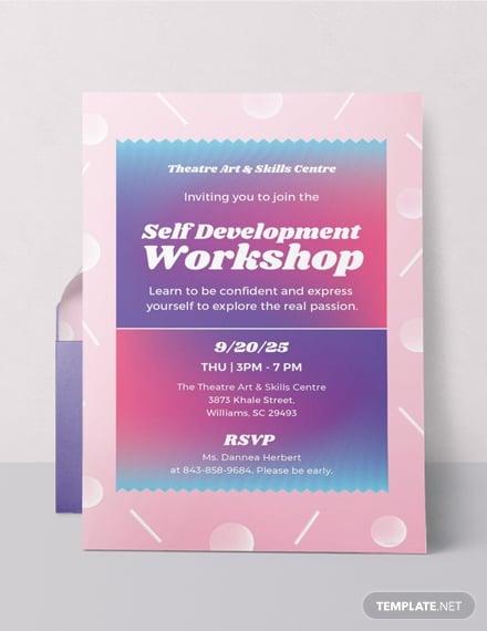 development workshop invitation card example