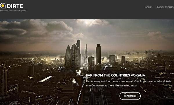 Dirte- Custom-design-layout WordPress Theme