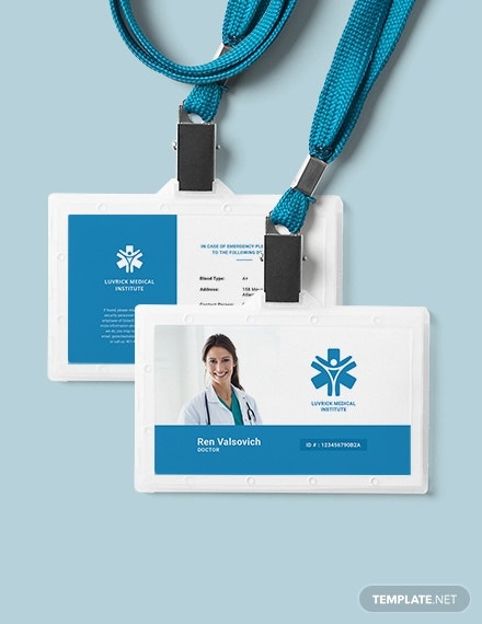 doctor id card template 1