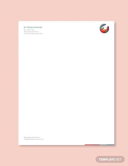 doctors office letterhead template