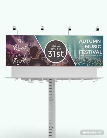 download event billboard template