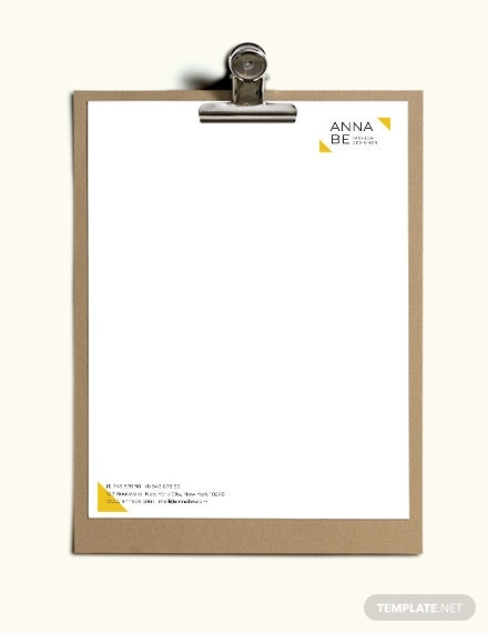download fashion designer letterhead template