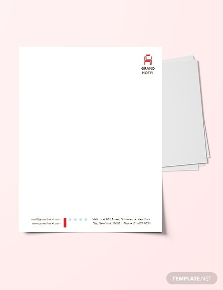 download grand hotel letterhead template