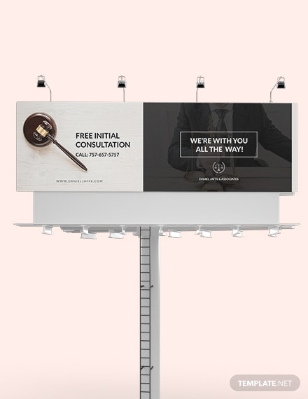 download law firm billboard template