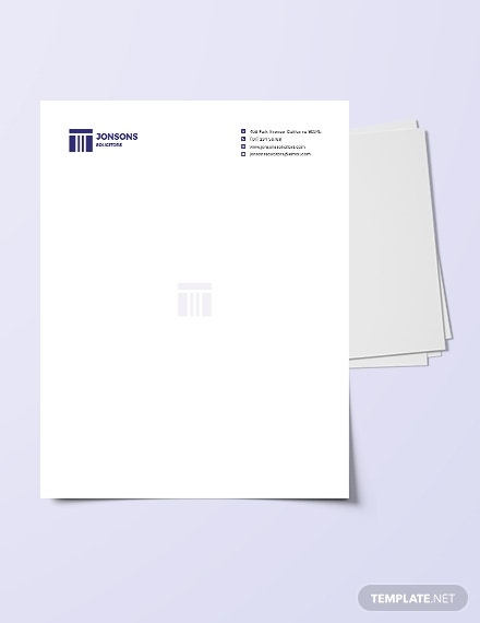 download law firm letterhead template