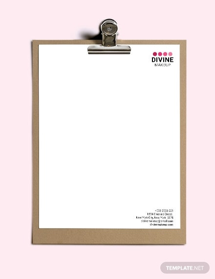 download makeup artist letterhead template