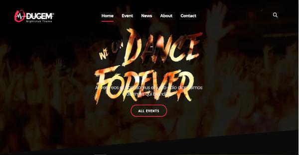 dugem fresh feel nightclub wordpress theme