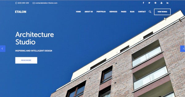 etalon wordpress premium theme of architecture2