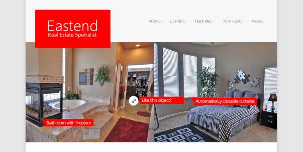 eastend responsive web design wordpress theme