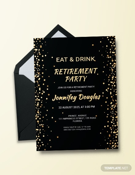 eat and drink retirement pary