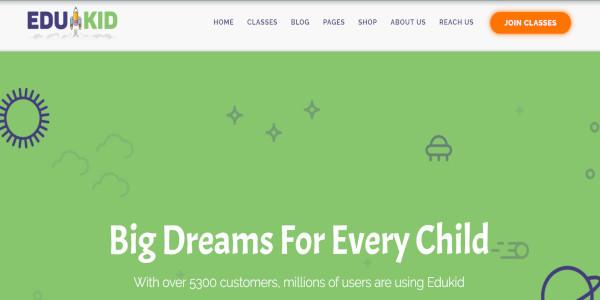 edukid educational wordpress theme