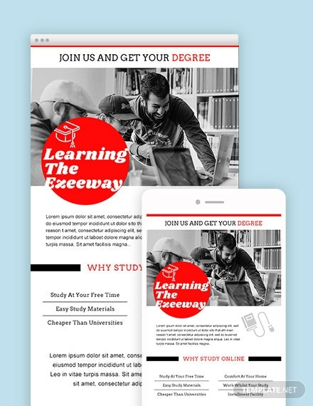 education email ad template