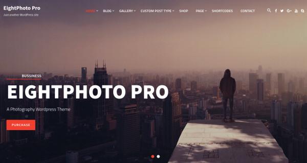 eightphoto pro highly configurable homepage wordpress theme