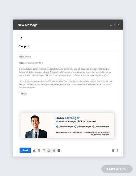 elegant business email signature format
