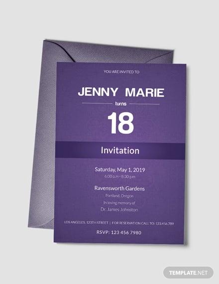 elegant debut event invitation
