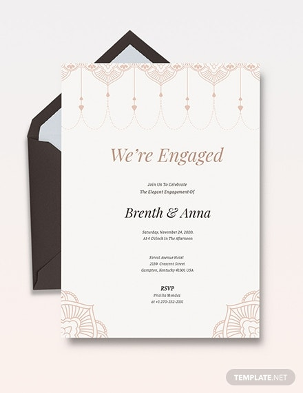 elegant engagement party invitation template