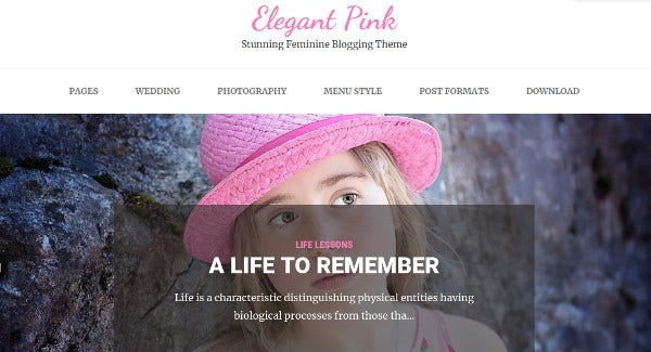 elegant pink – multilingual wordpress theme