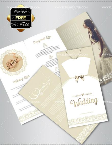 elegant trifold wedding brochure example