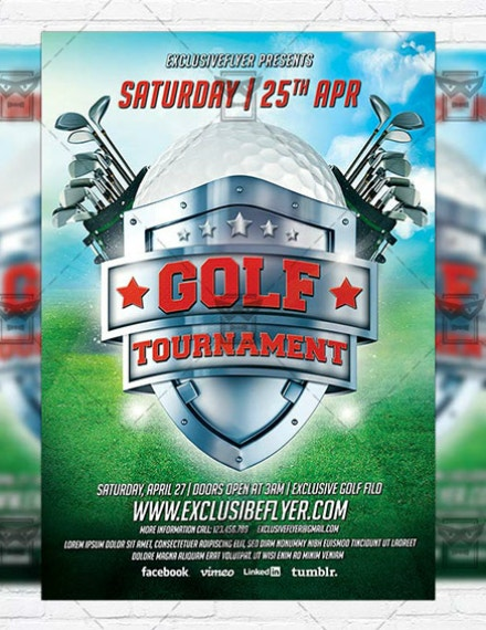 Emblem Golf Tournament Flyer Example