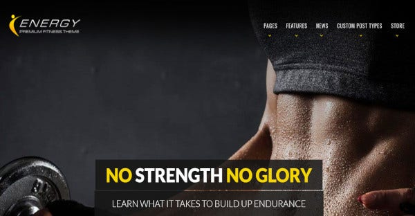 energy potent fitness theme
