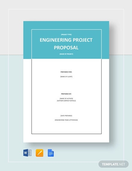 12+ Engineering Project Proposal Templates - Word, PDF