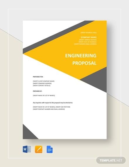 engineering proposal template